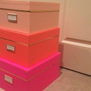 Kate Spade Other   NWT Kate Spade Nesting Boxes   Three Boxes.